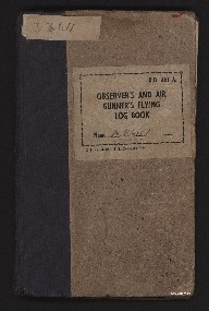 The Observer's and Air Gunner's Flying Log Book for Andrew Bain <br />