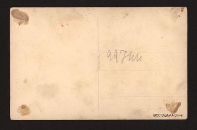 The reverse of the photograph No.1 of P Troglio