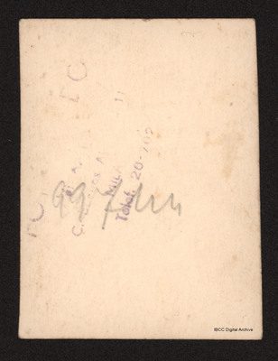 Reverse side of photograph No. 3