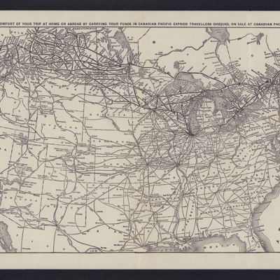 Railway map of Canada and the United States