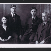 Basil Ambrose with brother Gerald and family