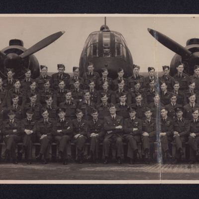 Squadron in front of a Wellington