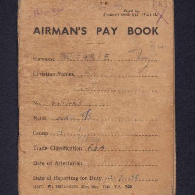 Airman's Pay Book