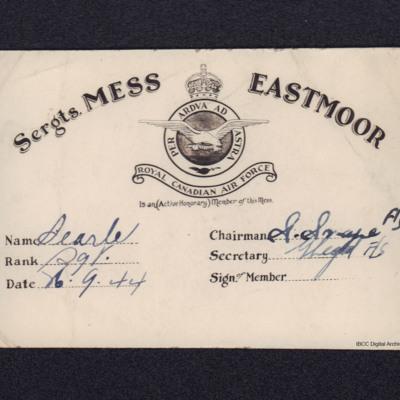 Rex Searle's Mess Pass