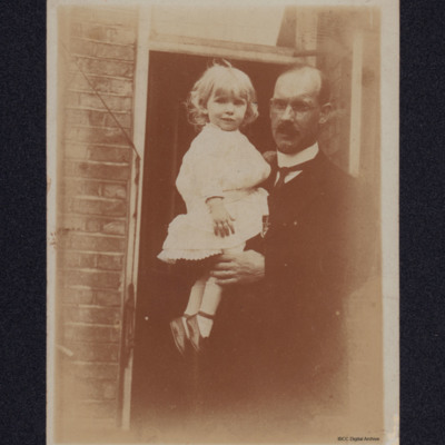 Isobel Searle and her father