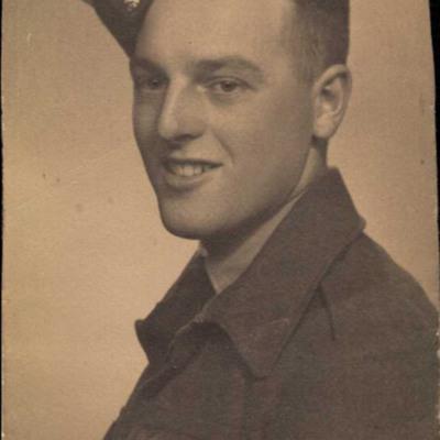 Bill Bailey as a cadet