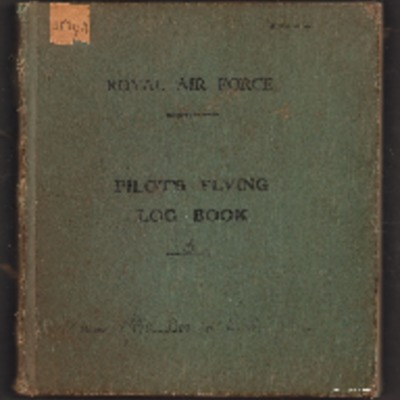 Ernest Smith's pilot's flying log book. Three.