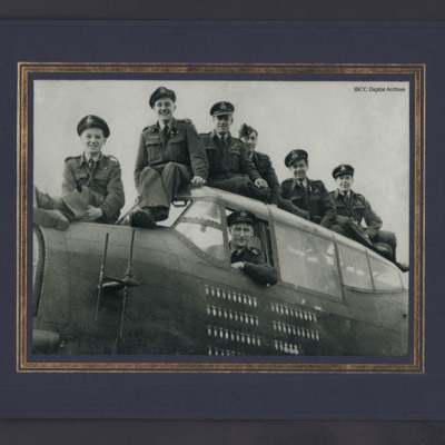 Victor Azzaro and crew on a Lancaster