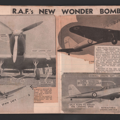 R.A.F.'s New Wonder Bomber
