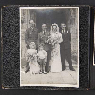 Kenneth Babington-Browne's wedding
