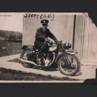 Airman on motorbike