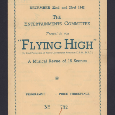 Programme for revue 'Flying High'.