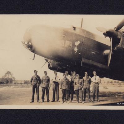 Halifax Mk 2 with ground crew