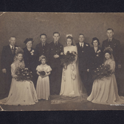 Bert Allen's Wedding party
