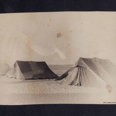 Three tents in the desert