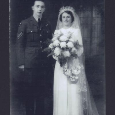 Tom Wharmby and his bride