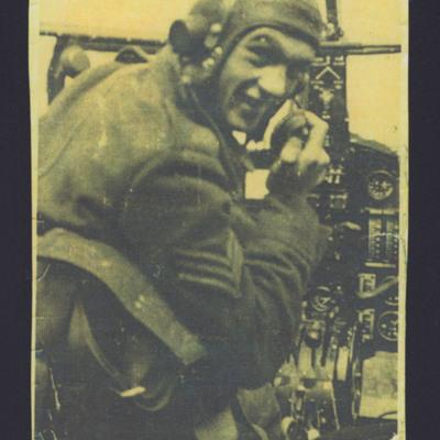 Leonard Waldorf at the controls