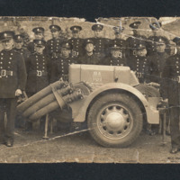 17 auxiliary firemen with fire pump