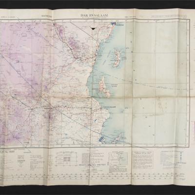 Aviation map east Africa - Dar Es Salaam