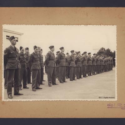 Royal Air Force airmen on parade