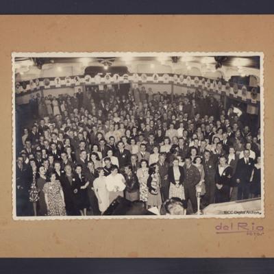 Crowd in ballroom