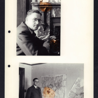 Civilian with maps