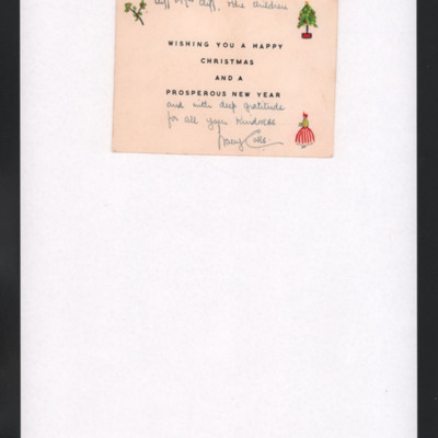 Christmas Card to Cliff and his wife