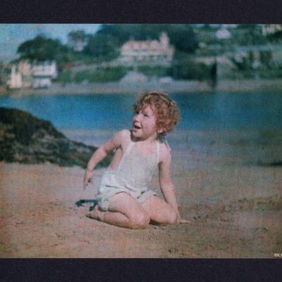 Frances Valentine on a beach