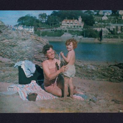 Ursula and Frances Valentine on a beach