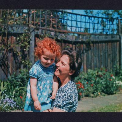Ursula and Frances Valentine in a garden
