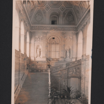 Royal Palace of Naples. Staircase