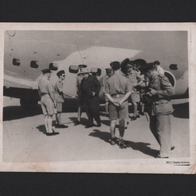 Winston Churchill arriving Heliopolis