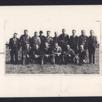 A V Roe civilian crew at RAF Wickenby