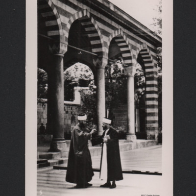 Two Arab teachers, School of Sheiks, Damascus