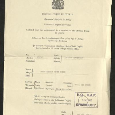 Jim Tyrie Identity Paper