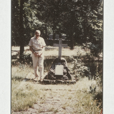 Man and grave