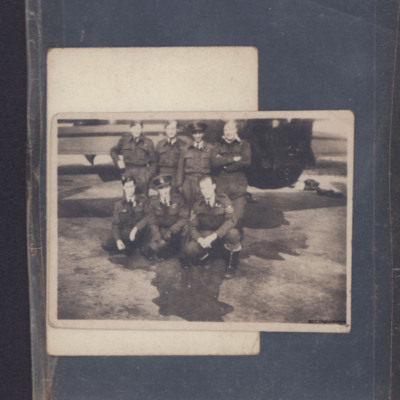 Seven airmen at a rear gun turret