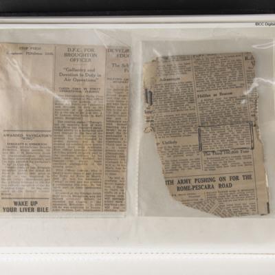 Homer Lawson DFC Newspaper Cutting