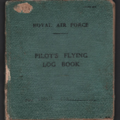Richard Starkey's flying log book for pilots
