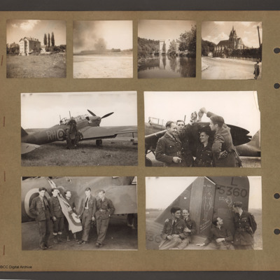 Scenes from France including Battle aircraft