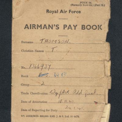 Airman's Pay Book