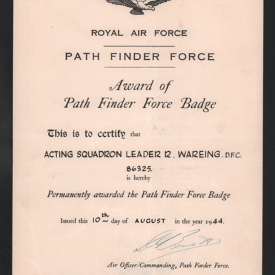 Path Finder badge certificate