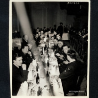 Airmen at formal dinner