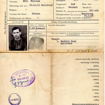 Prisoner of war identity document