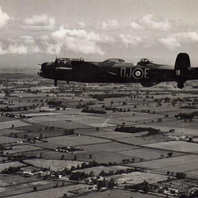Lancaster in Flight