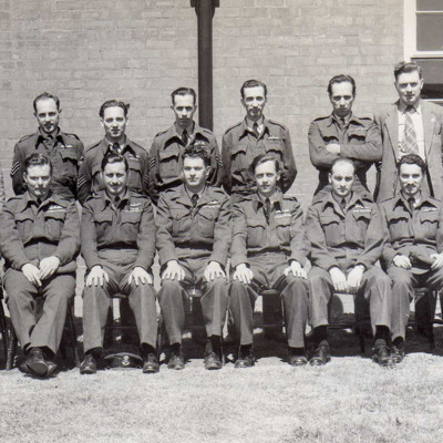 Jim Eley and Group of Airmen
