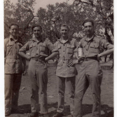Four Airmen at Bari