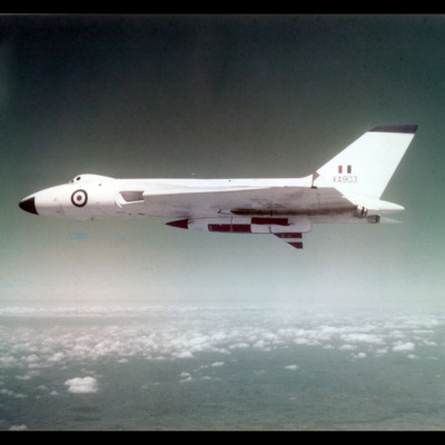 Vulcan airborne with missile