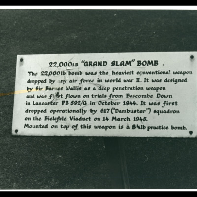 Sign notice for Grand Slam