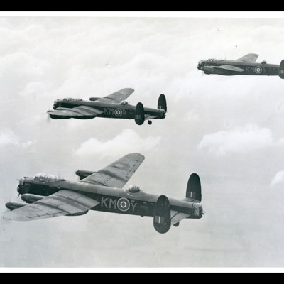 Three Lancasters in formation